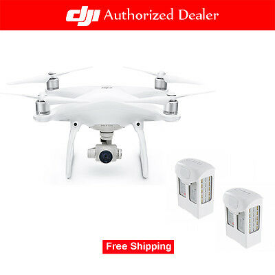 DJI Phantom 4 RC Quadcopter Drone with 2 Extra Batteries packing in suitcase