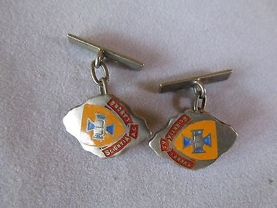 Vintage Sterling Silver and Enamel University of Queensland Cufflinks