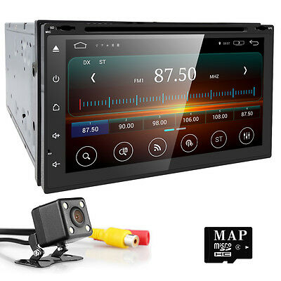 CAM+Quad Core Android 5.1 System 2 Din HD Car Stereo DVD Player GPS Navigation 8