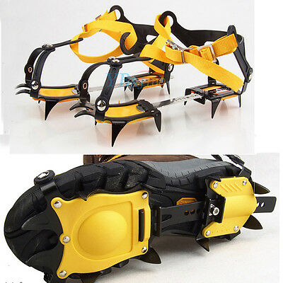 Pro Strap Crampons Ski Belt 10 Teeth Ice Snow Shoes Spike Grip Crampon Outdoor