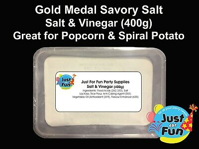 Gold Medal Salt & Vinegar Spiral Potato Seasoning for Hot Chips (400g)