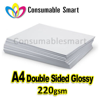 A4 220gsm Double Sided Glossy Inkjet Photo Paper Water Proof UV Resistant
