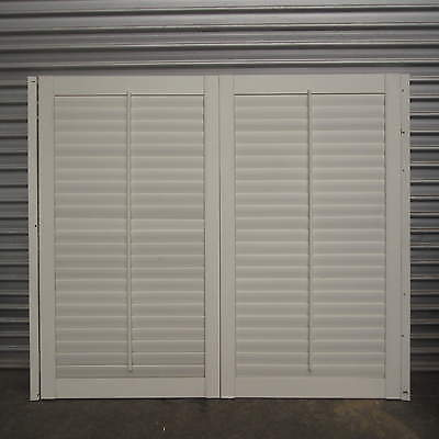 Plantation Shutters – Pair Of Timber Shutters, 745W X 1340H, 13H