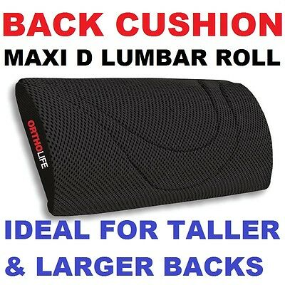 MAXI D BACK LUMBAR ROLL CUSHION seat true support  car belt  posture stretcher