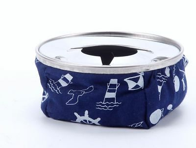 Bean Ashtray, Blue Bean Bag Ash Tray With Stainless Steel Top, Blue Ashtray - AM