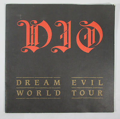 DIO Dream Evil World Tour Book 1987 Ronnie James Appice Goldie Schnell Bain