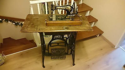 casige jugendstil kinder n hmaschine made in germany rar antik sewing machine eur 150 00. Black Bedroom Furniture Sets. Home Design Ideas