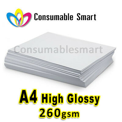 A4 260gsm High Quality Glossy Inkjet Photo Paper Water Proof UV Resistant
