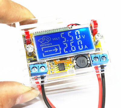 DC-DC Adjustable Step-down Power Supply Module Voltage Current LCD Display CASE