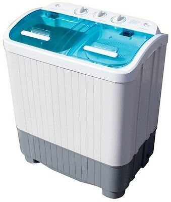 3.5kg Deluxe Twin Tub Portable Washing Machine Spin Dryer Camping Student.Home