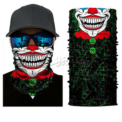 Clown Joker Face Shield Sun Mask Balaclava Neck Gaiter Neckerchief Motorcycle