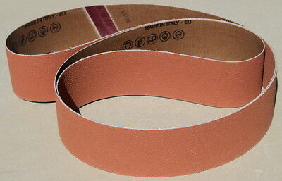 New 2 x 72 Ceramic P36 Grit Sanding Belts- Norton 3rd Gen Grain-Cerpass (5 pc)
