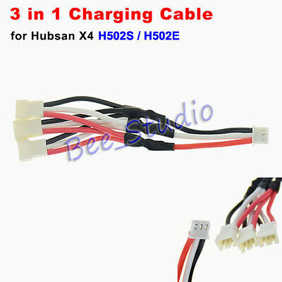 3-in-1 Battery Charging Cable for Hubsan X4 H502S H502E RC Quadcopter Charger