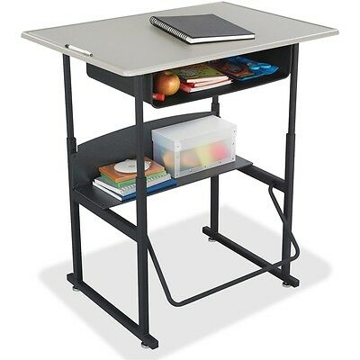 """Safco AlphaBetter Desk, 36 x 24 Standard Top with Book Box - 36"""" Table Top..."""