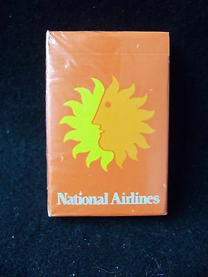 Vintage NATIONAL AIRLINES Playing Cards!!  SEALED!  IN BOX!   NEW!