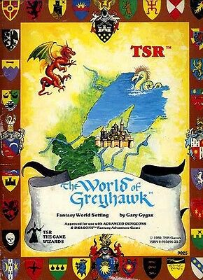 THE WORLD OF GREYHAWK FOLIO EXC! #9025 Dungeons Dragons Set Setting D&D AD&D TSR