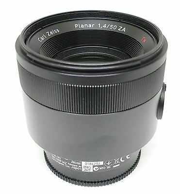ZEISS SONY ALPHA PLANAR T* 50mm f1.4 ZA SSM LENS BOXED CASE