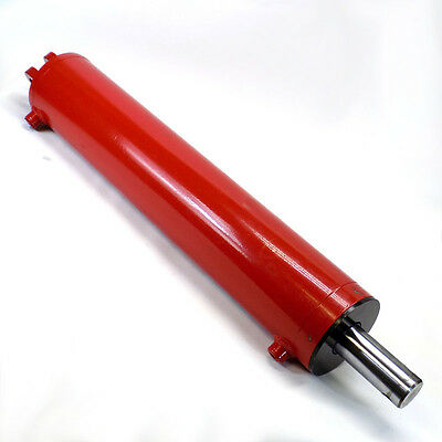 "NEW Double Acting Hydraulic Cylinder; 5"" Bore, 24"" Stroke, 2"" Chrome Rod"