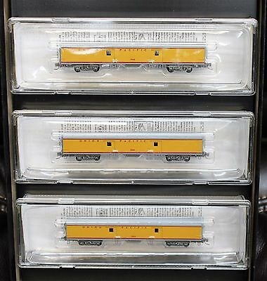 Z Scale MICRO-TRAINS LINE 994 00 064 UNION PACIFIC 70' Baggage Car 3-Pack Runner