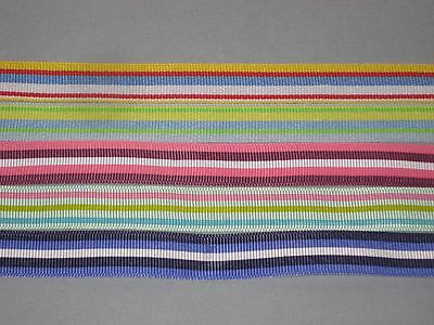 """5 - 5/8"""" Grosgrain  Ribbons - Assorted Stripes - 12 Inches @"""
