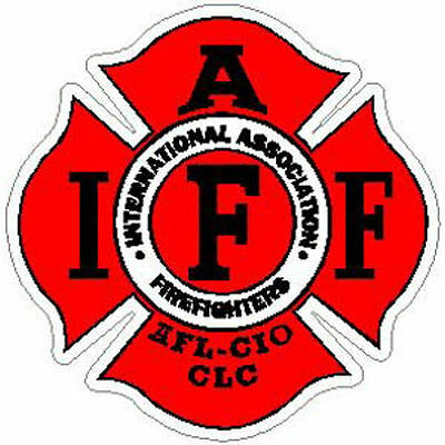 2 Inch Non-Reflective IAFF Red Firefigher Maltese Sticker Decal