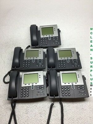 Lot of 5 Cisco CP-7942G IP Business Phones