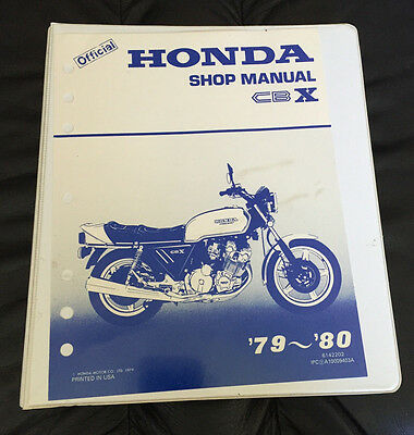 1979 to 1980 Honda CBX Official Factory OEM Shop Manual - CLEAN!