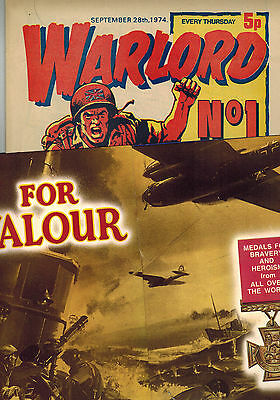 WARLORD COMIC No. 1 from 1974 WITH FREE GIFT