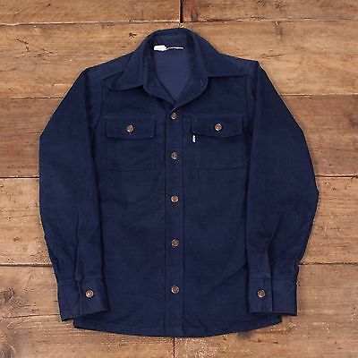 "Mens Vintage Levis Workwear Denim Overshirt Jacket Size S 34"" R4404"
