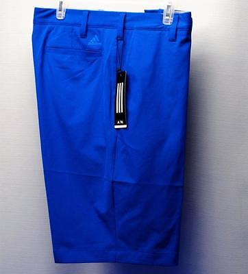 New Mens Size 36 Adidas Ultimtae Solid Golf shorts Polyester Spandex Blue