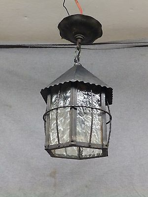 Antique Arts Crafts Mission Porch Ceiling Light Fixture Old Vtg Cottage 2374-16