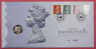 Great Britain Royal Mint 2009 Fdc £1 Coin Cover High Value Definitives