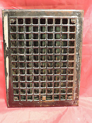 Antique Iron Heating Vent Grate Square Design 14 X 11  B