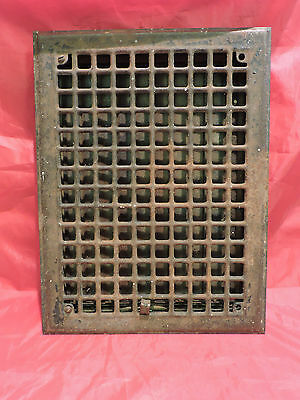Vintage 1920S Iron Heating Grate Rectangular 16 X 12     G