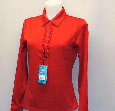 New Ladies NiVO polyester long sleeve Red golf golf top Small