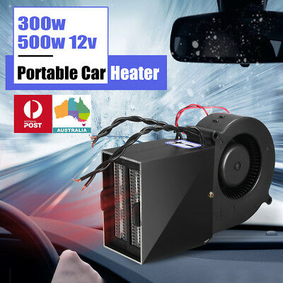 12V 150W/300W Electric Car Van Heater Thermostat Fan Window Defroster Demister