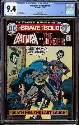 Brave and the Bold # 111 CGC 9.4 White (DC, 1974) Great Joker cover