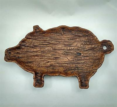 New Primitive Farmhouse Rustic LARGE PIG TRAY Treenware Cutting Board Decorative