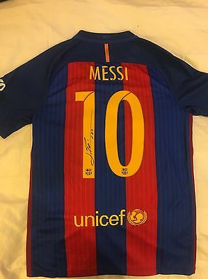 Lionel Messi Signed Autographed Soccer Jersey COA AUTHENTIC Fast shipping!!