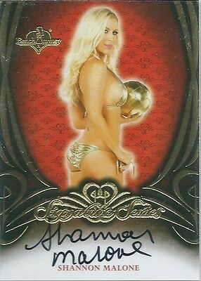 Benchwarmer 2015 Signature Series SHANNON MALONE Red Back Autograph Card AUTO