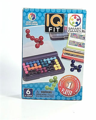 New Smart Games IQ Fit Multi Level Logic Game Age 6 and Up