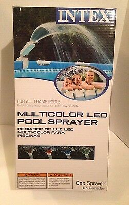 New Intex Multi-Color LED Above Ground Pool Sprayer/Fountain Fits Metal Frame