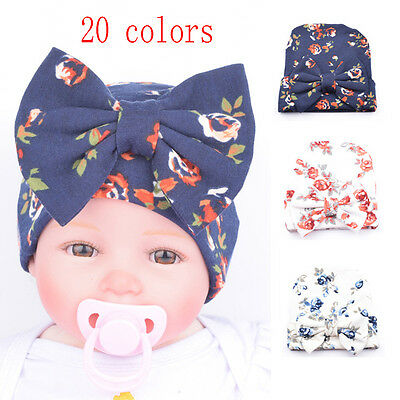 Cute Baby Newborn Girl Infant Toddler Bowknot Beanie Warm Hat Hospital Cap Comfy