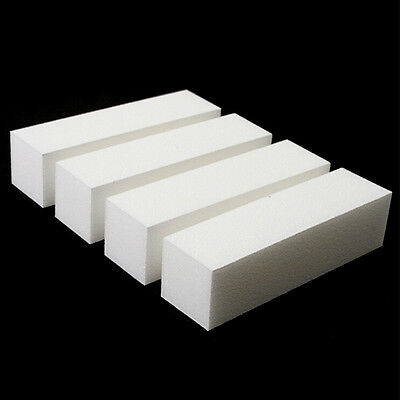 10x White Nail Art Buffer Buffing Sanding File Block For Manicure Pedicure