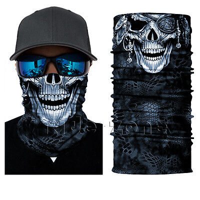 Skull Cyclopia Face Shield Sun Mask Balaclava Neck Gaiter Bandana Neckerchief