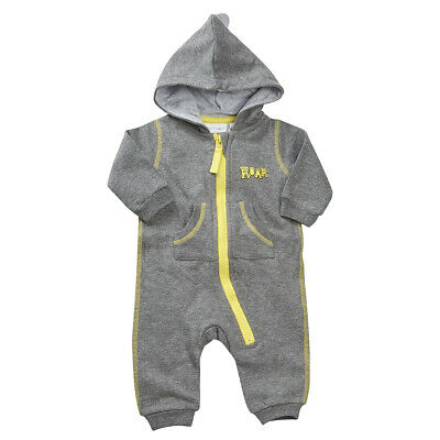 Baby Boys Hooded All In One Playsuit Babygrow Cotton Novelty Dinosaur Jumpsuit