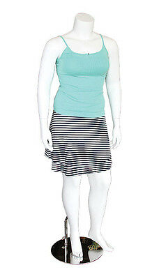 Female Headless Plus Size Mannequin Magnetic Arms Attachment Display White NEW