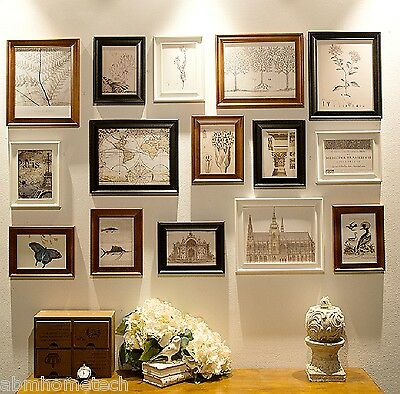 ABm Home RD15 Picture Photo Frame Set, Wall Frame Set