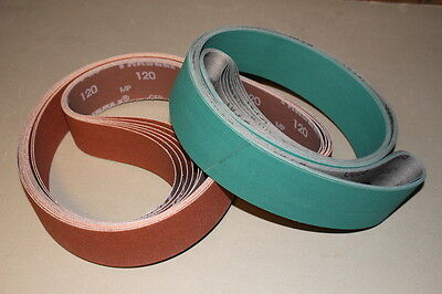 2 x 72 Sanding Belt Knifemaker Variety Kit Ceramic & A/O  (18pc) #3