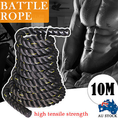 10m Battle Rope Battling Power Crossfit Fitness Exercise Strength Heavy Home Gym